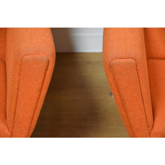 Hans Wegner Hans J. Wegner CH445 Orange Lounge Chairs - a Pair For Sale - Image 4 of 10