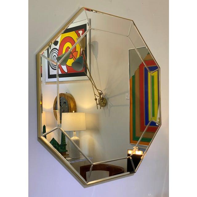 Metal Vintage La Barge Octagonal Mirror For Sale - Image 7 of 9