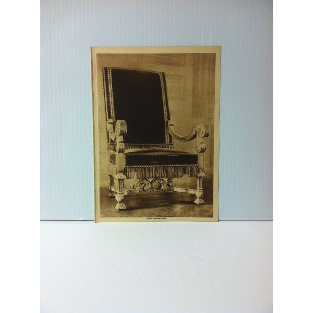 """Circa 1915 """"Louis XIV Armchair"""" the Mentor Association Print For Sale - Image 4 of 4"""