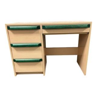 Camelot Green + Maple Veneer Petite Desk For Sale