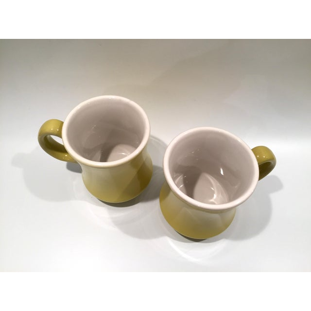 Mid-Century Green Mugs - A Pair - Image 3 of 6