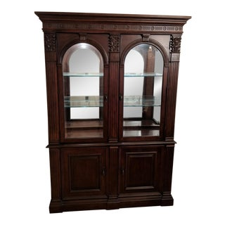 1990s Traditional Bernhardt Embassy Row China Cabinet For Sale