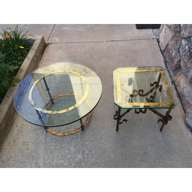 Spanish Gilt Iron Side Tables - Set of 2 For Sale - Image 9 of 13
