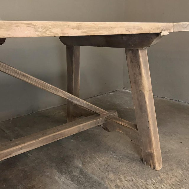 Wood 19th Century Spanish Table With Marble Tiles For Sale - Image 7 of 12