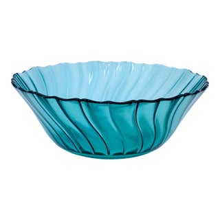 1930s Ultramarine Swirl Bowl For Sale
