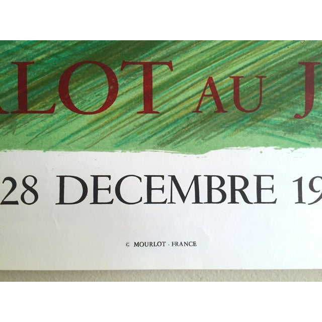 "Bernard Buffet Rare Vintage 1980 "" Mourlot Au Japon "" French Lithograph Print Exhibition Poster For Sale - Image 10 of 12"