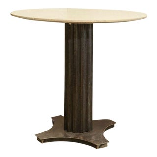 Limestone Top Iron Table For Sale
