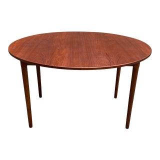 Scandinavian Modern Teak and Oak Dining Table For Sale