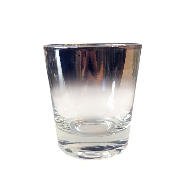 Mid-Century Modern Mid Century Modern Vitreon Queen's Lustreware Silver Ombre Glassware Set For Sale - Image 3 of 7
