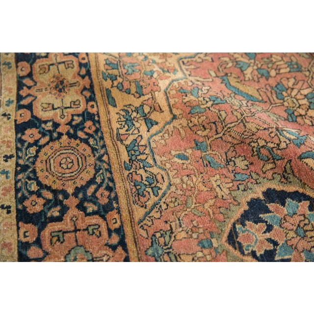 "Antique Farahan Sarouk Persian Rug - 3'10"" X 6'6"" For Sale - Image 11 of 13"