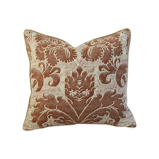 "24"" X 22"" Custom Tailored Italian Mariano Fortuny Glicine Pillow For Sale"