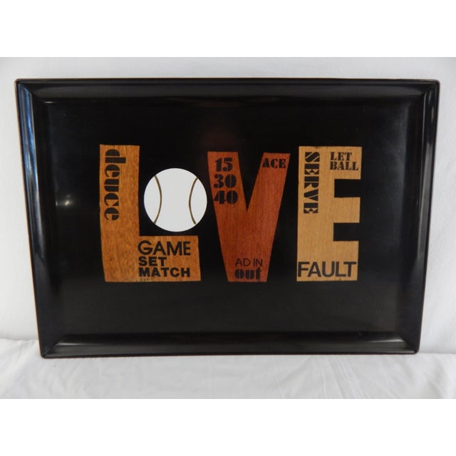 Couroc of Monterey Love Tennis Tray For Sale In Orlando - Image 6 of 6
