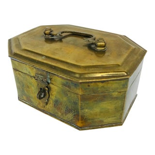 Chinese Brass Box For Sale