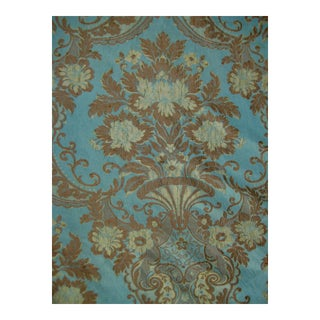 19th Century Large Italian Baroque Silk Fabric- 12 Yards Long Roll For Sale
