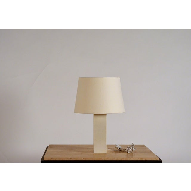 Contemporary Bloc' Parchment Table Lamp by Design Frères - a Pair For Sale - Image 3 of 7