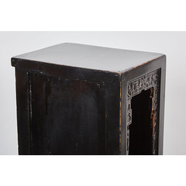 Brass 18th Century Chinese Lacquer Tall Tea Table For Sale - Image 7 of 10