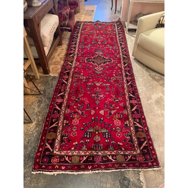 """Hand-Tied Persian Saruq Wool Runner Rug - 3′6″ × 10' 7"""" For Sale - Image 10 of 12"""