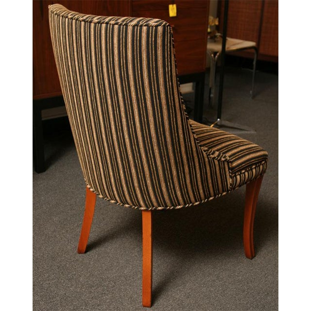 Sleek Tailored 40's Slipper Side Chairs - Image 8 of 10