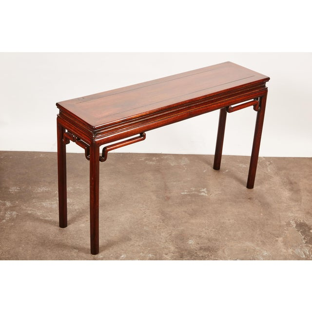 Brown Chinese Rosewood Altar Table For Sale - Image 8 of 8