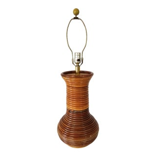 Vintage Gabriella Crespi Style Pencil Reed Lamp For Sale