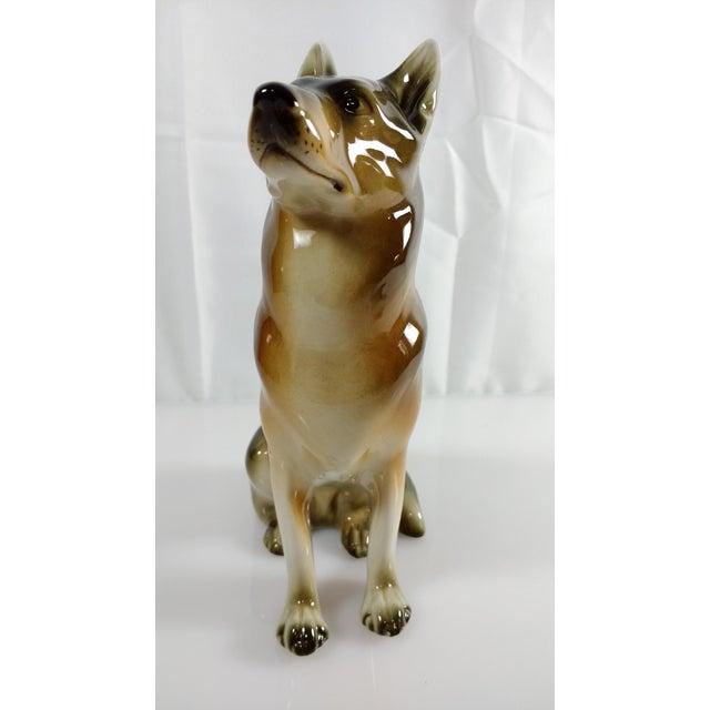 DUX Royal Dux Bohemia Czech German Shepherd Figurine For Sale - Image 4 of 8