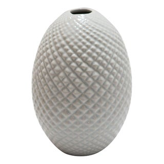 Textural Light Blue Ceramic Vase
