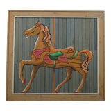 "Image of 1970s Vintage Theodore deGroot for Austin Productions ""deGroot LathArt"" Carousel Horse For Sale"