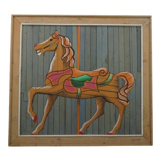 "1970s Vintage Theodore deGroot for Austin Productions ""deGroot LathArt"" Carousel Horse For Sale"