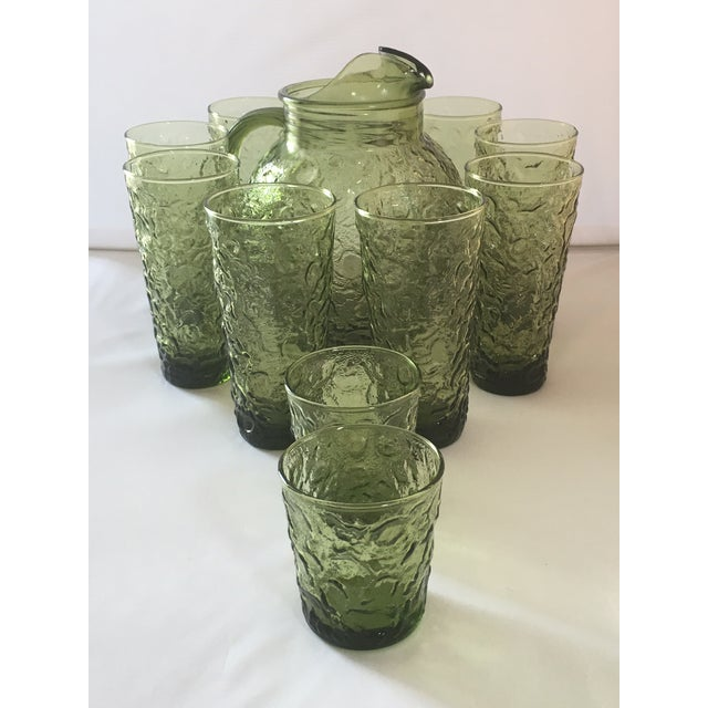 Vintage Avocado Green Lido Pitcher Set - Image 2 of 10