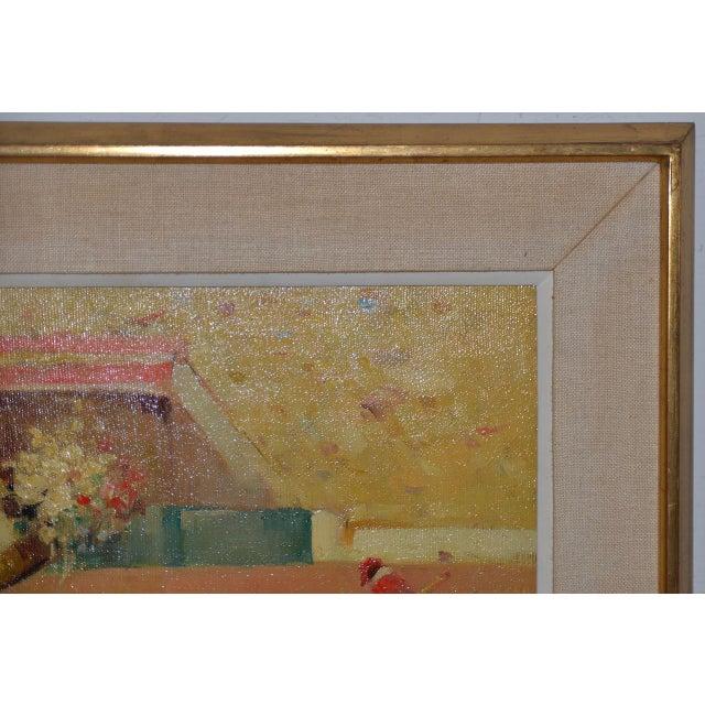 Joan Giralt-Lerin (Spain, 20th C.) Toreador Oil Painting C.1950 For Sale In San Francisco - Image 6 of 10