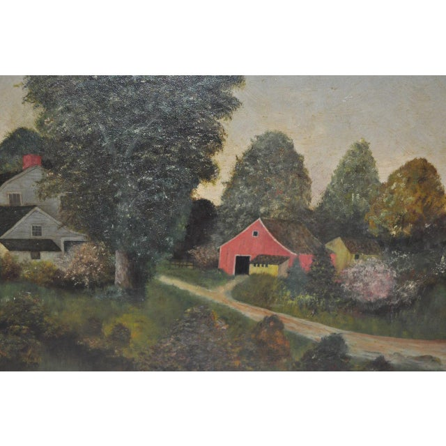 19th Century Barn & Farm House Country Landscape For Sale - Image 4 of 6