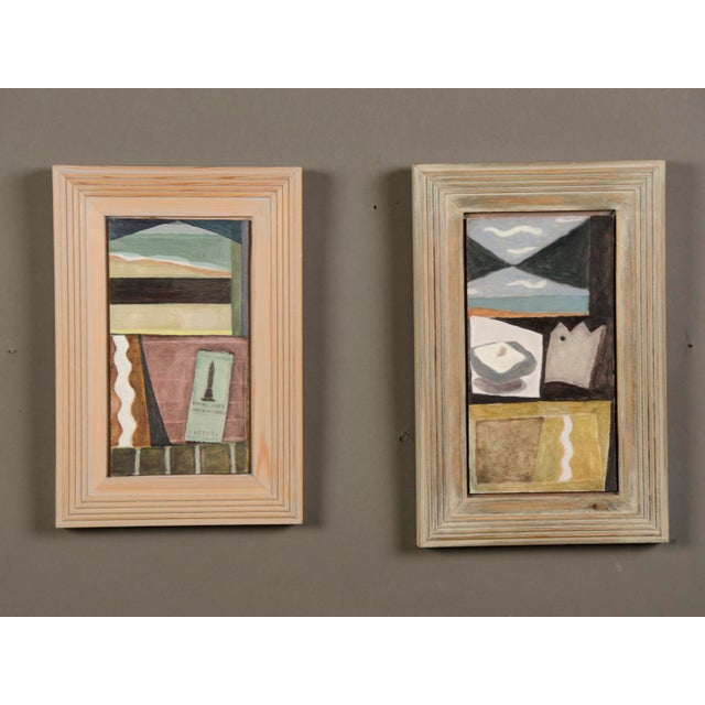 """1990s """"Green Ticket"""" by Helen Napper, an original oil on board dated 1999 For Sale - Image 5 of 5"""