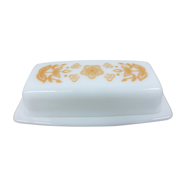 Pyrex Vintage Milk Glass Covered Butter Dish - Image 2 of 7
