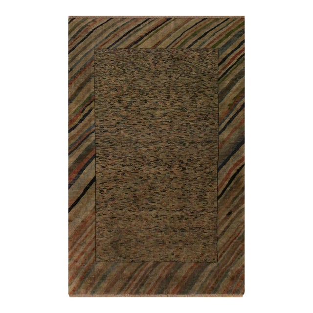 Overdyed Color Reform Glory Gray/Rust Area Rug - 4'7 X 6'4 For Sale
