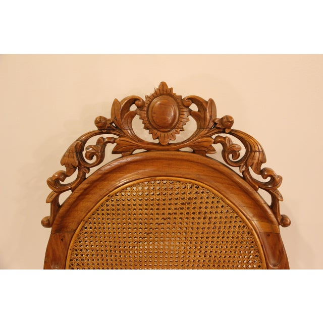 Vintage Carved Accent Chair - Image 5 of 11