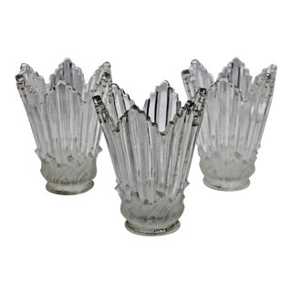 19th C. Baccarat France Crystal Sconce Shades - Set of 3