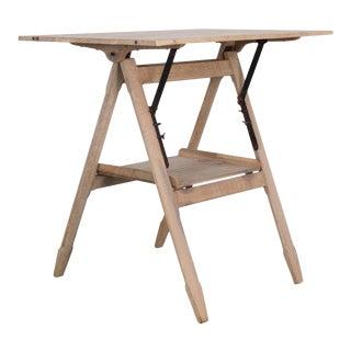 1920s Belgian Oak Drawing Table For Sale