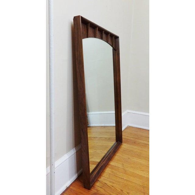 Kent Coffey Mid-Century Walnut Mirror - Image 5 of 5