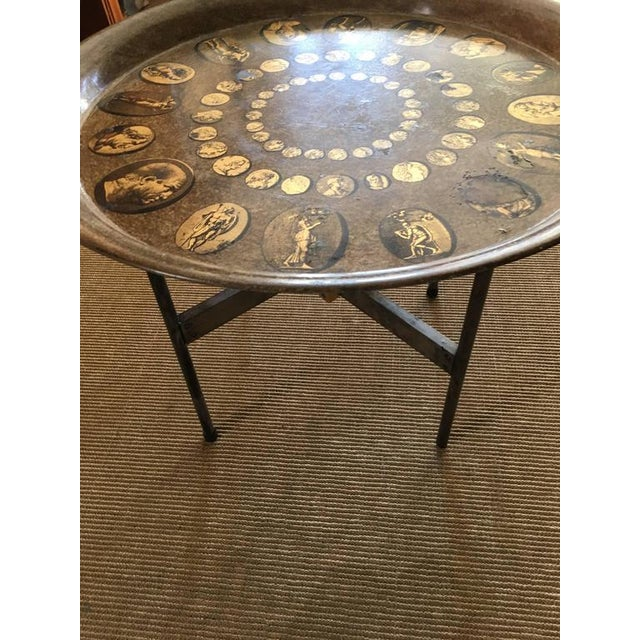 Mid 20th Century Vintage Fornasetti Tray Table on Stand For Sale - Image 5 of 7