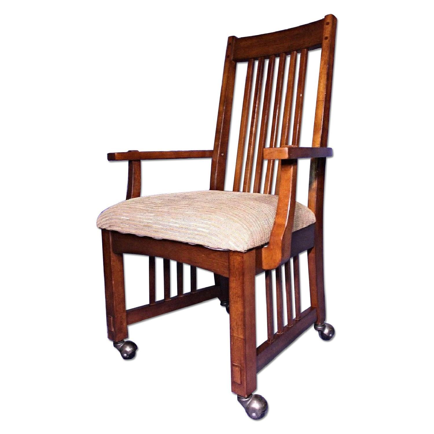 Arts And Crafts Stickley Chair Armchair For Sale   Image 5 Of 10
