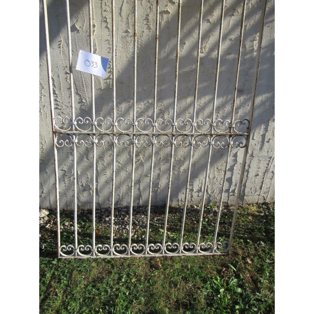 Traditional Antique Victorian Iron Gate Window Garden Fence Architectural Salvage Door For Sale - Image 3 of 6