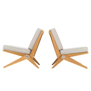 Pair of Pierre Jeanneret Scissors Chairs