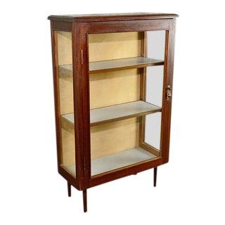 Vintage Mid-Century Mahogany Curio Cabinet For Sale