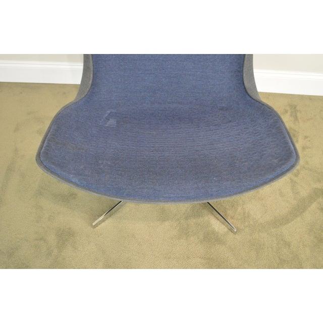 2000 - 2009 Monica Forster for Bernhardt Chrome Base Swivel Vika Lounge Chair For Sale - Image 5 of 13