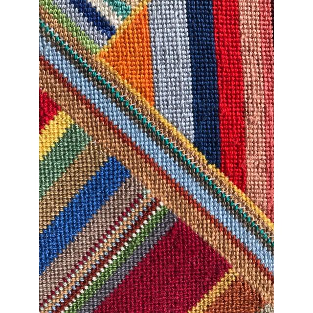 """Large Geometric Colorful Original Needlepoint Art - 36.35"""" x 22.25"""" - Image 11 of 11"""
