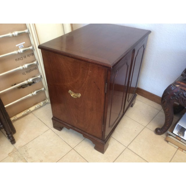Classic Mahogany Two Door Cabinet With Handles For Sale In San Antonio - Image 6 of 10