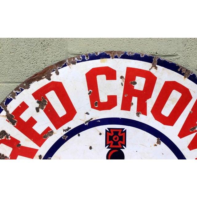 Red Crown Gasoline Porcelain Sign - Image 3 of 4