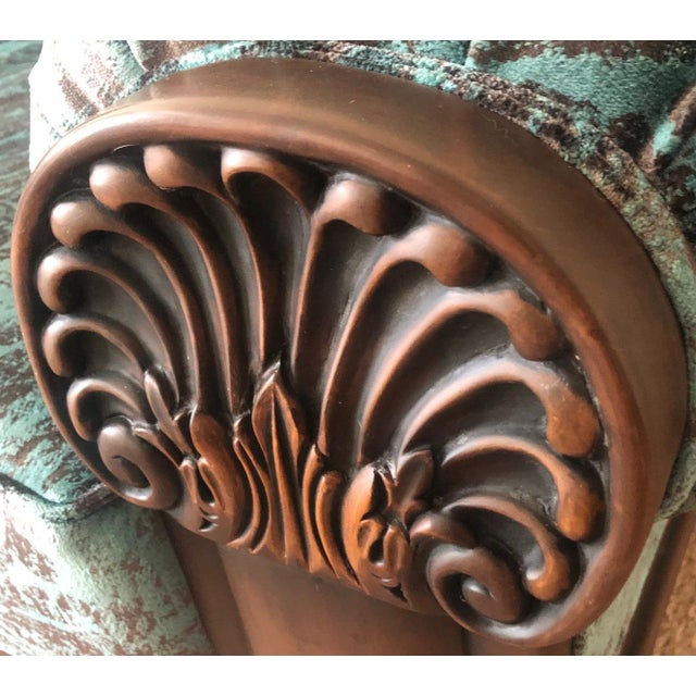Teak Vintage Mid Century Wooden Solid Teakwood Sofa Set- 2 Pieces For Sale - Image 7 of 9