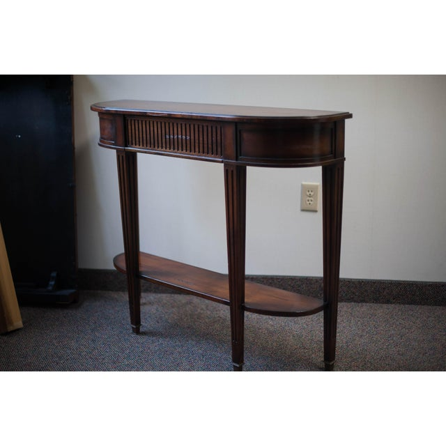 Traditional Sherrill Occasional Console Table For Sale - Image 3 of 10
