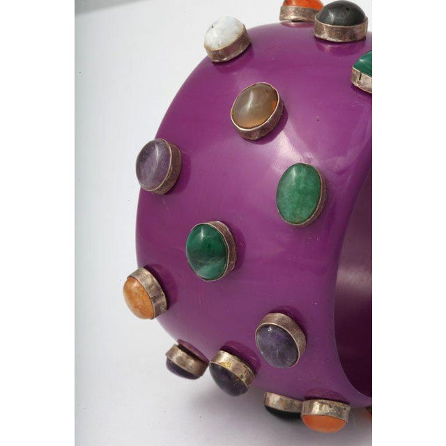 1970s Purple Bangle Bracelet For Sale - Image 5 of 8